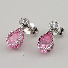 Glittering Pink kunzite Fashion Jewelry Gift Gold Filled Stud Earrings er971