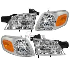 NEW 4 PC SET HEADLIGHTS & SIGNAL MARKER LAMPS FOR 1997-2005 CHEVROLET VENTURE