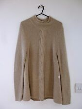 Jigsaw   pure cashmere reworked chunky knit cable detail jumper size S
