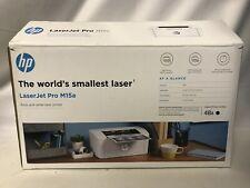HP Laserjet Pro M15A Smallest Black and White Monochrome Wired Laser Printer