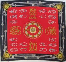 -Superbe Foulard BACCARA Lyon  soie  TBEG vintage scarf 84 x 90 cm