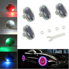 4pcs Car Wheel Hub Tire Solar Energy LED Decoration Valve Light Flash Night Lamp