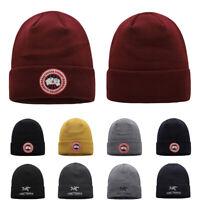 Men Women Goose/ACR Embroidery Warm Cuffed Cap Knit Hat Stretch Beanie Warm Caps