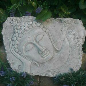 Stein-Relief BUDDHA 42cm br antiklook