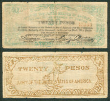 #S716 20 Pesos Philippine Free Negros US ARMY Military WW2 Banknote