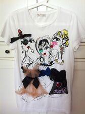 ORIGINALE Lanvin pour h&m T-shirt Maglietta Blusa * 3 Ladies * SIZE XS