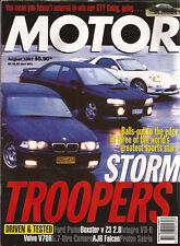 Motor Aug 97 Puma Integra VTi-R V70R AWD Xantia M3 RX-7 Impreza WRX Boxster Z3