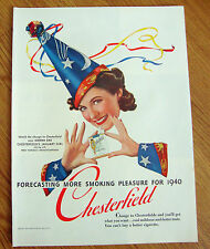 1940 Chesterfield Cigarette Ad     Donna Dae January Girl
