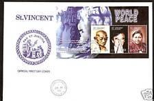 St.VINCENT GANDHI FDC 2005