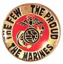 6 PINS - US MARINES GOLD EMBLEM USMC Marine Anchor Lapel Pin!