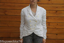 luxueuse veste coton soie blanche HIGH USE taille 38  NEUF ÉTIQUETTE valeur 500€