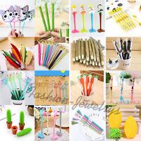 23 Types Kawaii Cartoon Gel Ink Ballpoint Pens School Office Supplies Stationery