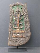Ancien Panneau décoration de Temple en Bois de BIRMANIE