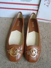 New Michael Kors tan leather women's ballet flats shoes size 10M