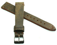18mm /16 Germany made Vintage Lederband Retro Look Uhrenarmband Distressed braun