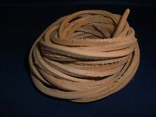 "4 Vegetable Tanned Leather Laces 1/8"" x 72"" Bird Parrot Toy Part Craft"