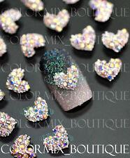 #CA066 3D Bijoux ongles pour décorations nail art tip manucure coeur strass