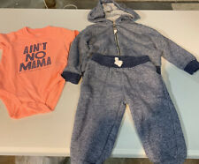 Carters baby boy 12 month 3 piece outfit pants long sleeve short sleeve bodysuit