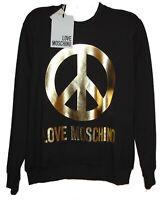 Love Moschino Black Gold Logo Long Sleeve Cotton Men's Sweater  Size 2XL NEW