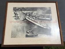 CUNARD WHITE STAR LINE RMS QUEEN MARY LG FRAMED SOUTHAMPTON PRE MAIDEN VOYAGE 36