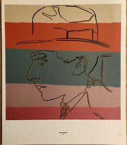 Jean Cocteau Surrealist & Guido Orsi Andy Warhol 1985 Mini Poster 29x24.5cm,E209