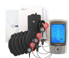 Tens Ems Machine PRO 24 Rechargeable Compact  with 8 Pads + Free Travel Pouch