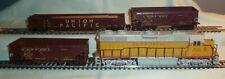 Atlas GP38 Union Pacific #2048 + 2 UP Hopper & 1 Gondola w/Load Cars NO Boxes HO