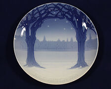 1904 Bing and Grondahl Christmas plate 'View of Copenhagen from Frederiksberg'