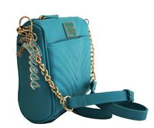 NWT GUESS MARABELLA HANDBAG Teal Logo Crossbody Shoulder Bag & Key Chain GENUINE
