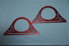 1 Paar Taschenbügel Taschengriffe - aus Holz - rotbraun lasiert - 25 x 13,5 cm