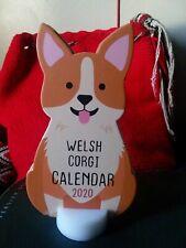 2020 Die Cut Desktop Calendar Welsh Corgi, Collectible Dog Calendar with Stand