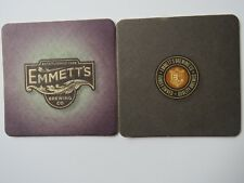 Beer Coaster: EMMETT'S Brewing Co, West Dundee, Illinois Family Owned Since 1999