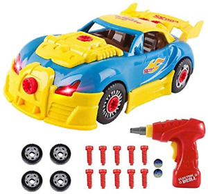 Toys for 3 year olds Boys & 4 year old Boy Gifts,CrossRace Take Apart Toy Car &