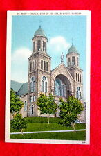 Newport Vermont Postcard St. Mary's Church msc2