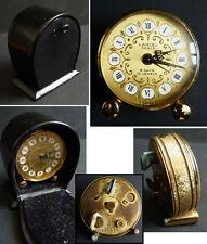 Petit réveil pendulette bureau LANCEL Swiss  Vers 1970 clock 8 Days