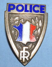 VINTAGE FRENCH POLICE NATIONALE ENAMEL BADGE ENAMEL  VERY FINE OBSOLETE FRANCAIS