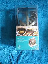 Inutilizzato in scatola CROFTON 3D Pan Di Zenzero House Cookie Cutter Set