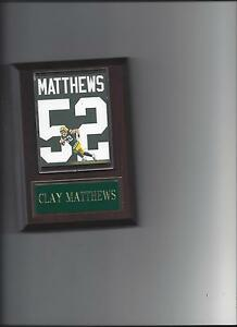 CLAY MATTHEWS JERSEY PLAQUE GREEN BAY PACKERS FOOTBALL NFL