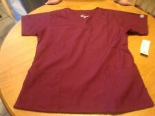 Women'S Butter-Soft Wine Colored Short Sleeved Scrub Top Medium New Tags Nwt
