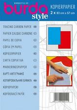 BURDA TRACING CARBON PAPER CONTENTS 2 LARGE SHEETS 83 X 57CM RED & BLUE
