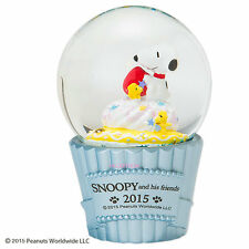 JAPAN SNOOPY ADN HIS FRIENDS WOOD STOCK CHRISTMAS SNOW GLOBE (M) 919859