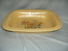 Vintage Treasure Craft Pottery Casserole Bakeware Oven Microwave Yellow MINT