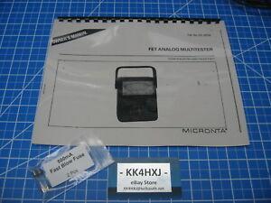 Instruction Manual - Radio Shack/Micronta 22-220A FET Analog Multitester w/Fuses