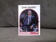 1989 NBA HOOPS LENNY WILKENS  AUTOGRAPHED CARD