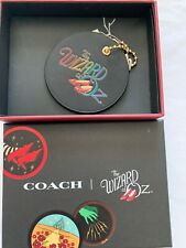 The Wizard Of Oz Coach Logo Bag Purse Charm Fob Dorothy's Ruby Slippers Leather