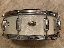 "New Listing1964 Slingerland Wmp White Marine Pearl Snare Drum - 5.5"" x 14"""
