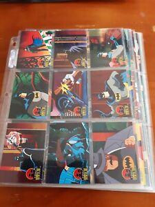 The Adventures of Batman & Robin Trading Cards Full Set (90) Skybox 1995