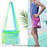 Hiking Outdoor Collection Tool Beach Tote Pouch Mesh Bag Kids Toys Storage