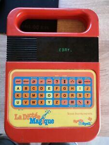 DICTÉE MAGIQUE TEXAS INSTRUMENT Vintage 1980 Jeu Vintage Fonctionne parfaitement