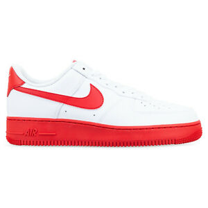 NIKE AIR FORCE 1 LOW WHITE/RED SOLE SNEAKERS CK7663-102 MENS US 13 UK 12 RARE